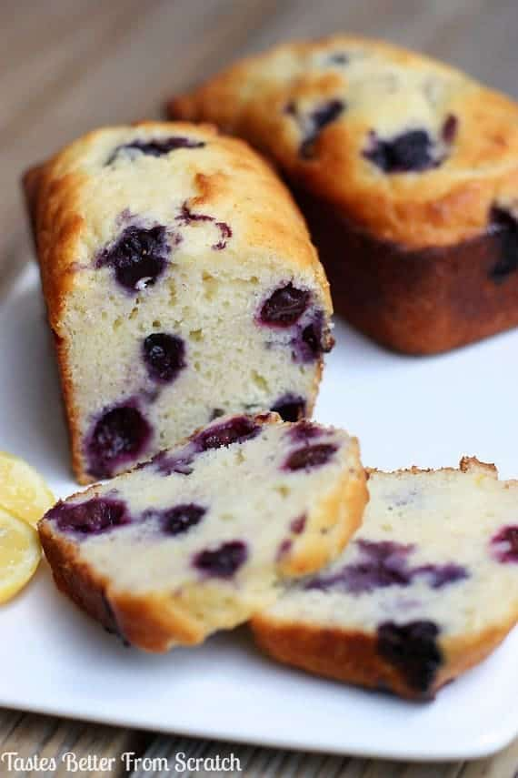 Lemon blueberry bread made with fresh or frozen blueberries and enjoyed all year round!