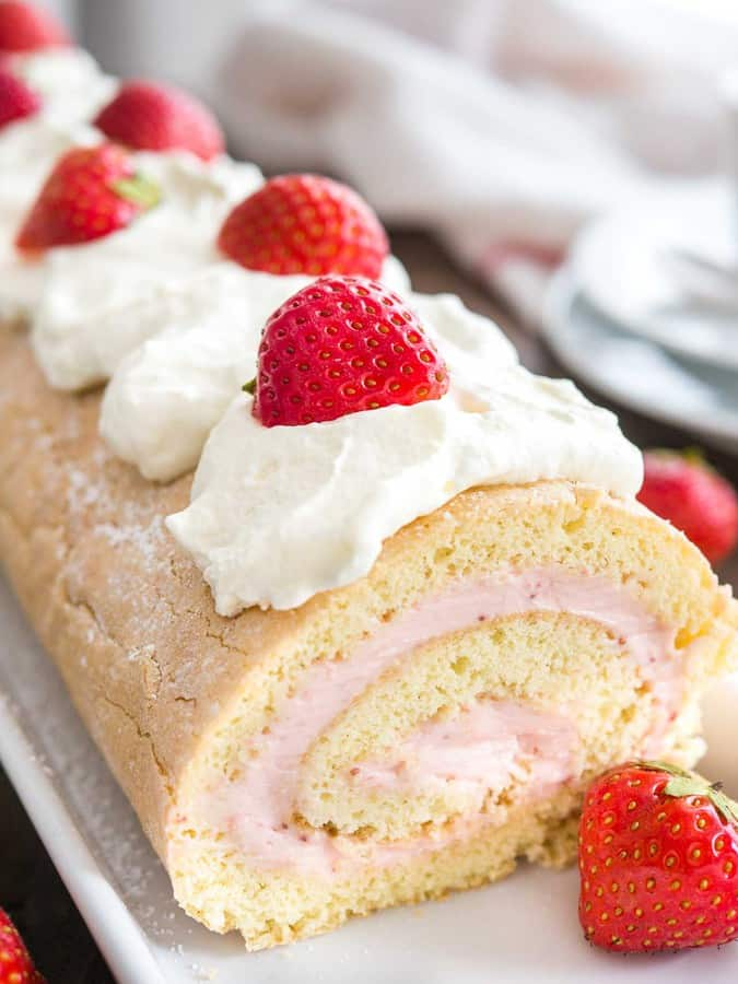 strawberry roll cake the best strawberry recipes 7767