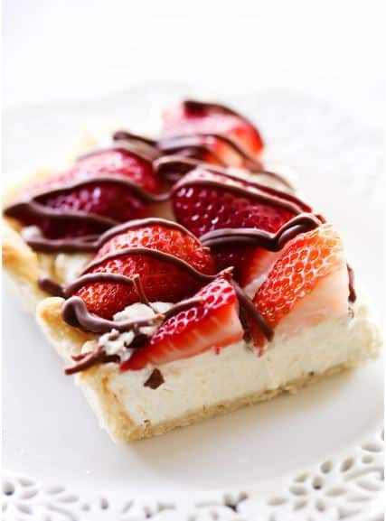 Strawberry Cream Slab Pie-- Part of The Best Strawberry Recipes