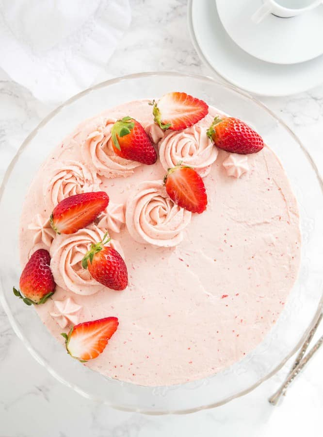 Homeade Strawberry Cake Recipe-- Part of The Best Strawberry Recipes