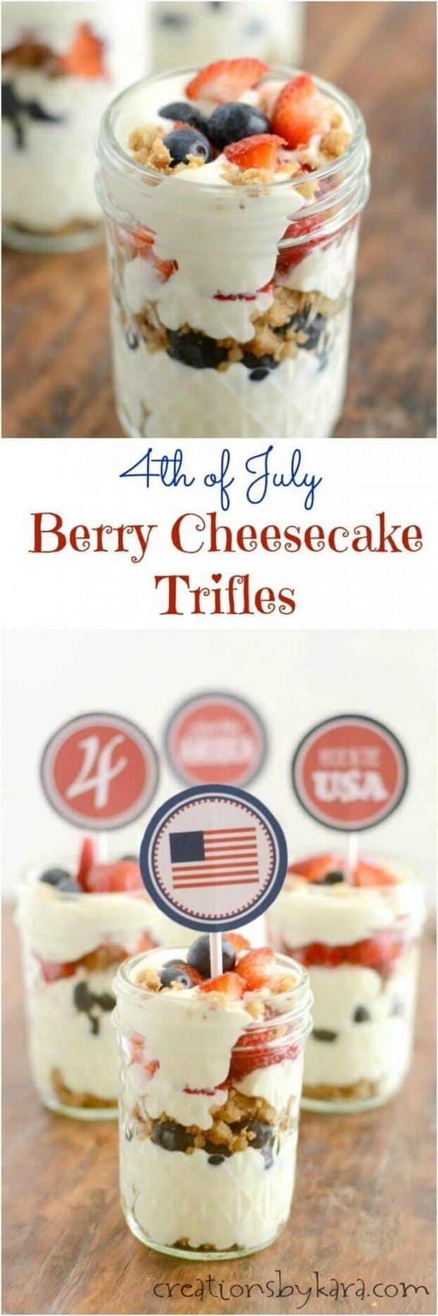 16 Mini Berry Cheesecake Trifles