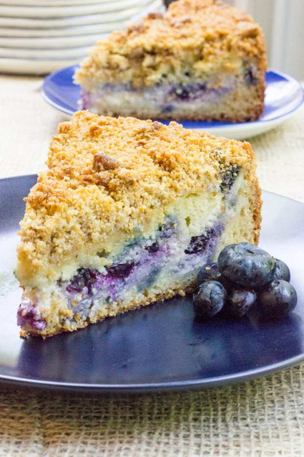 Blueberry Cream Cheese Coffee Cake Using Cake Mix