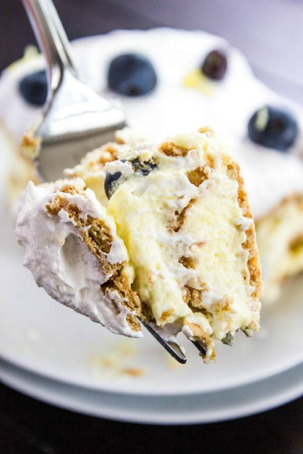 Lemon Blueberry Icebox Cake -- Part of The Best Blueberry Recipes