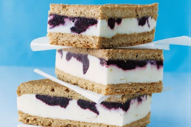 Lemon Ice Cream Sandwiches with Blueberry Swirl -- Part of The Best Blueberry Recipes