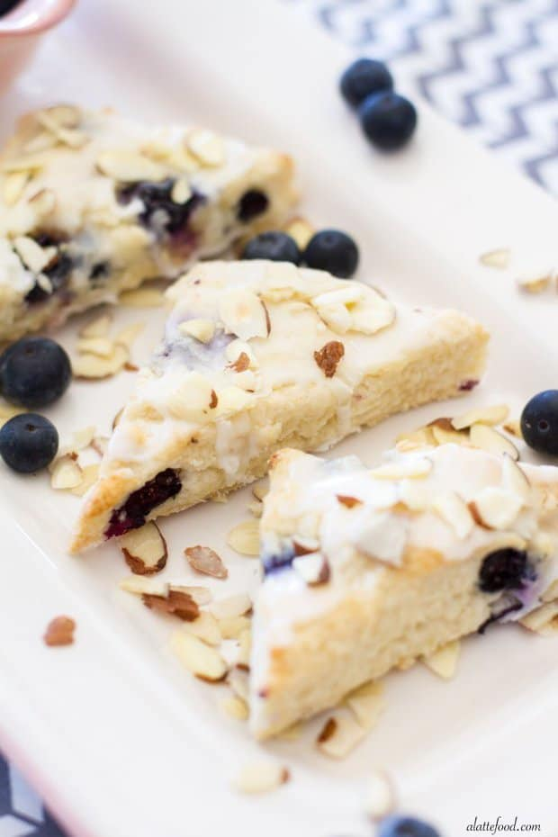 Mini Almond Blueberry Scones -- Part of The Best Blueberry Recipes