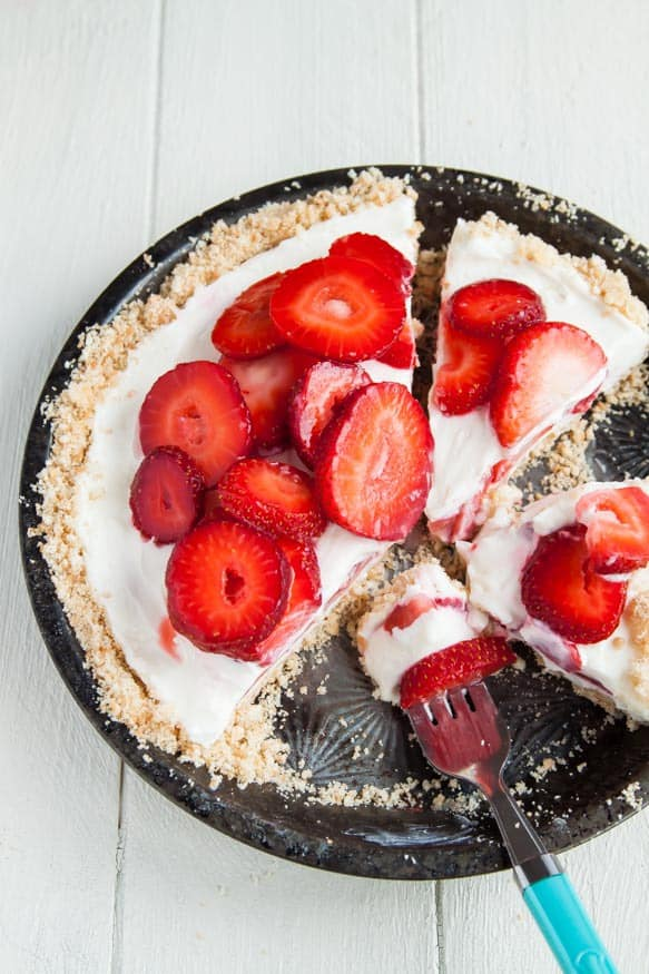 Strawberry Yogurt Pie-- Part of The Best Strawberry Recipes