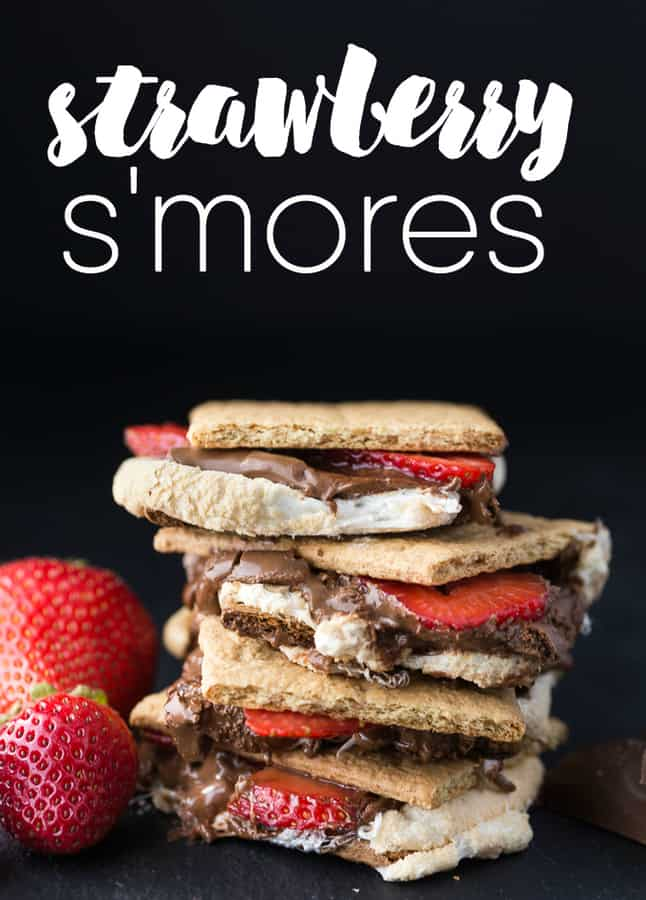 Strawberry S'mores-- Part of The Best Strawberry Recipes