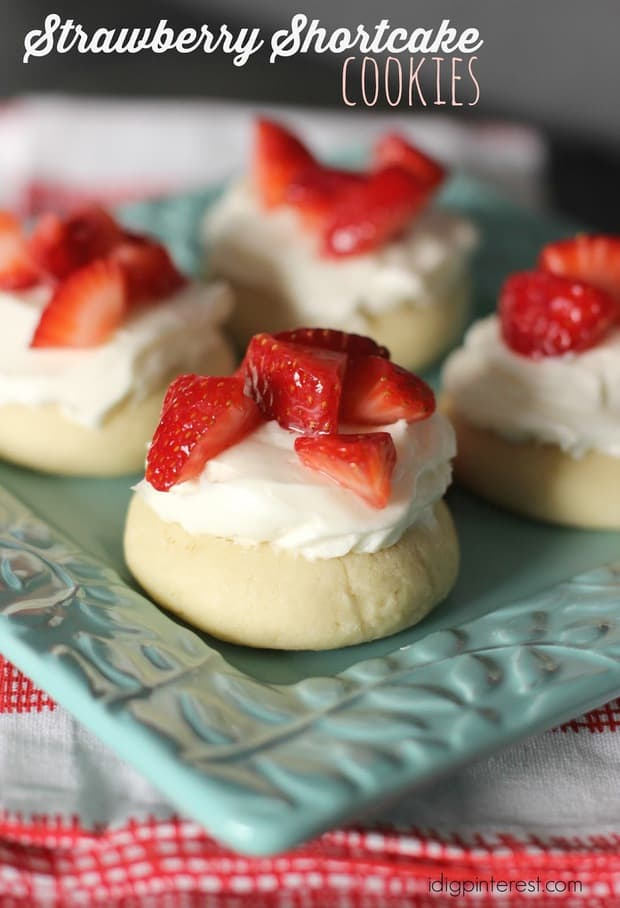 Just like the more traditional form, yet every bit as delicious, handheld and much less messy, these Strawberry Shortcake Cookies are a perfect summer treat!