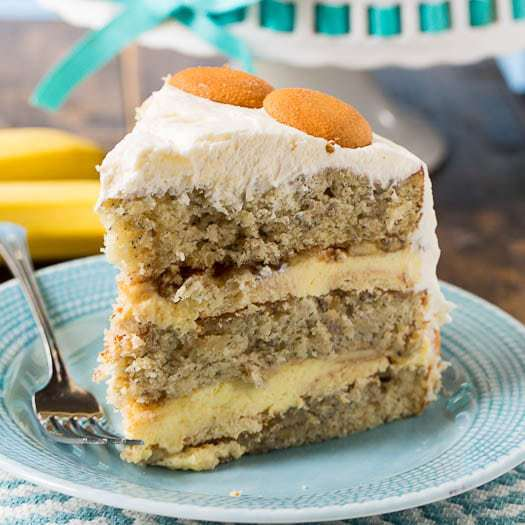 A layer cake with all the flavor of Banana Pudding. Fresh bananas, Nilla wafers, and whipped topping give this cake  that wonderful down home nanner puddin flavor in a more sophisticated form.