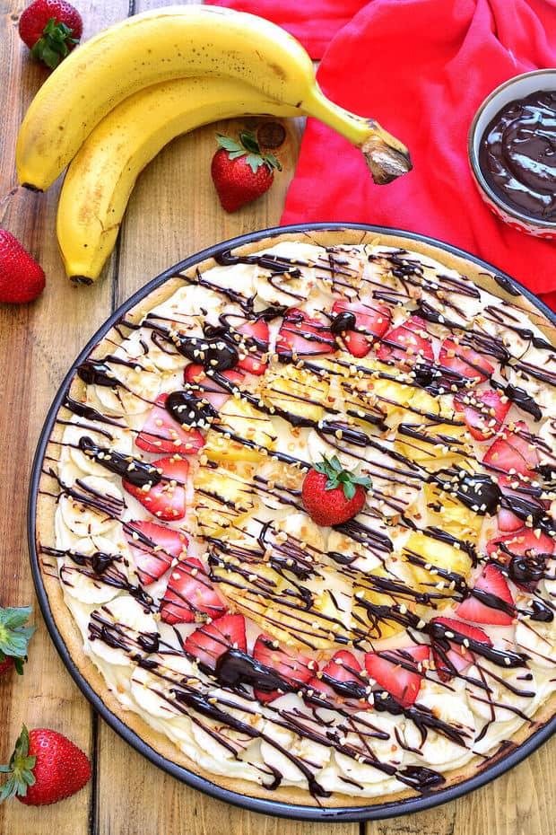 Banana Split Fruit Pizza The Best Blog Recipes