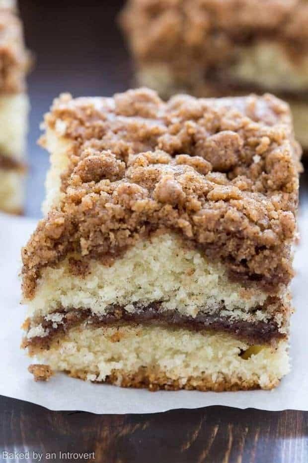 Quick Cinnamon Streusel Coffee Cake