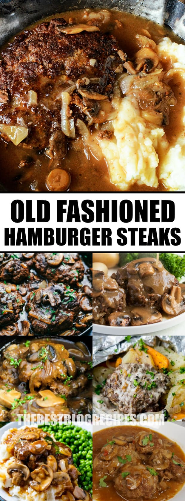 Old Fashioned Hamburger Steaks with Mushroom Onion Gravy