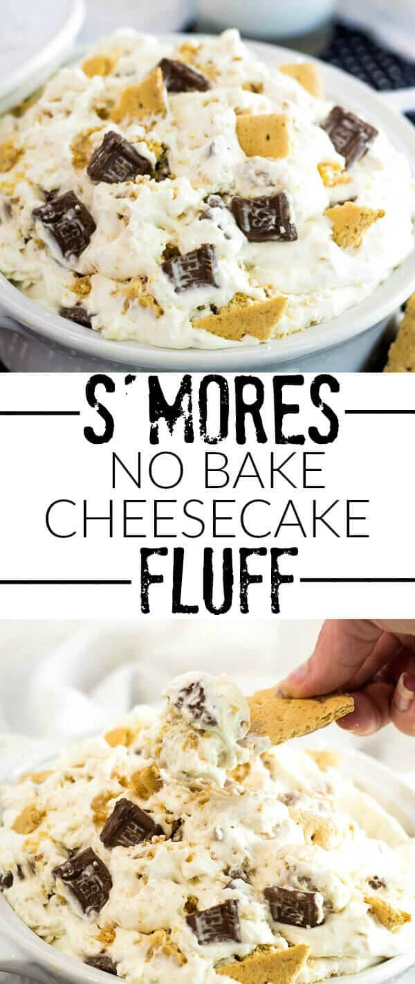 S'mores No Bake Cheesecake Fluff