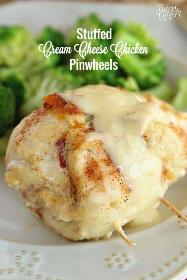 Stuffed Cream Cheese Chicken Pinwheels - The Best Blog Recipes