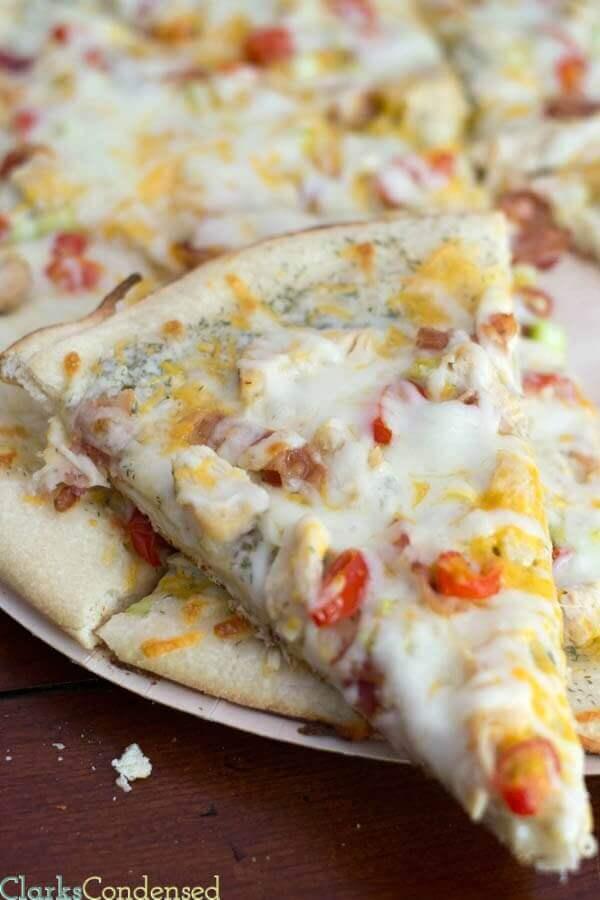 Copycat Papa Murphy's Garlic Chicken Pizza