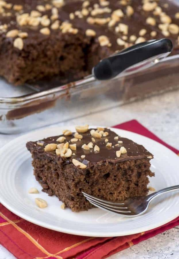Chocolate Peanut Butter Sheet Cake -- Part of The Very Best Sheet Cake