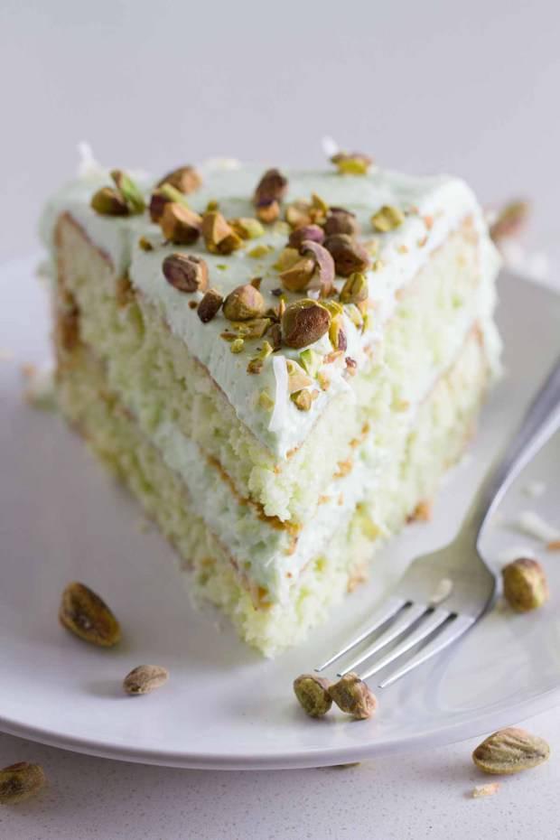 Pistachio Fudge Cake Recipe