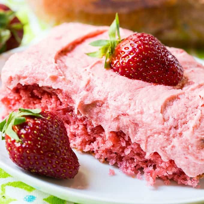 Strawberry Sheet Cake -- Part of The Very Best Sheet Cake