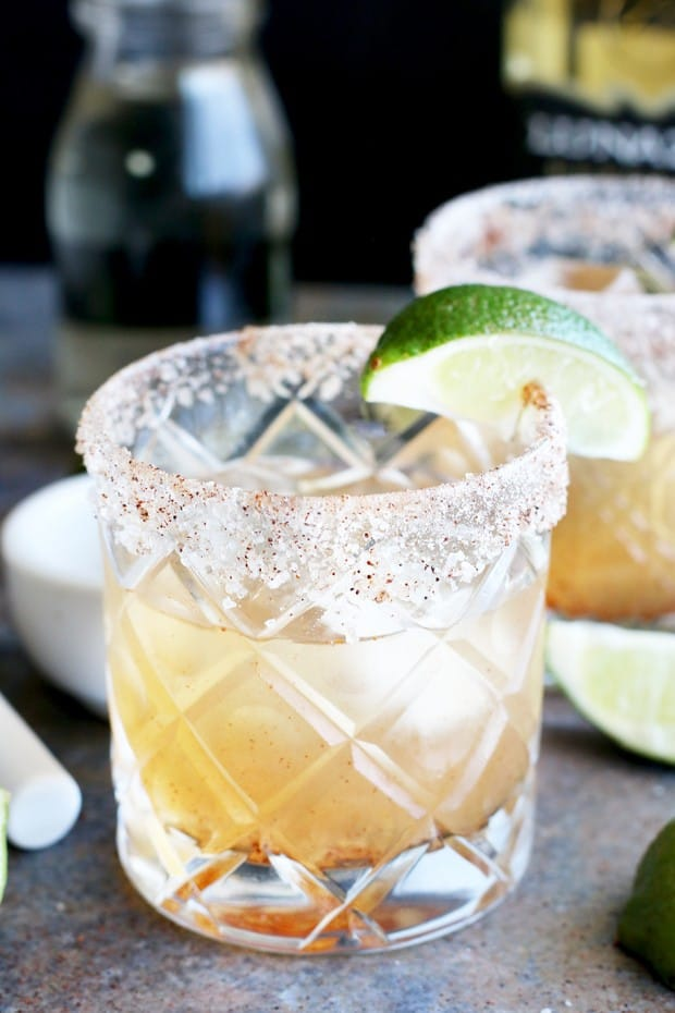 A Smoky Jalapeño Margarita is just the blend of smoky, savory and spicy to elevate your margarita game to all new heights. With an easy-to-make jalapeño simple syrup and a smoked chili sea salt rim, every sip is an adventure. Trust me when I say, you won't be able to stop at just one.