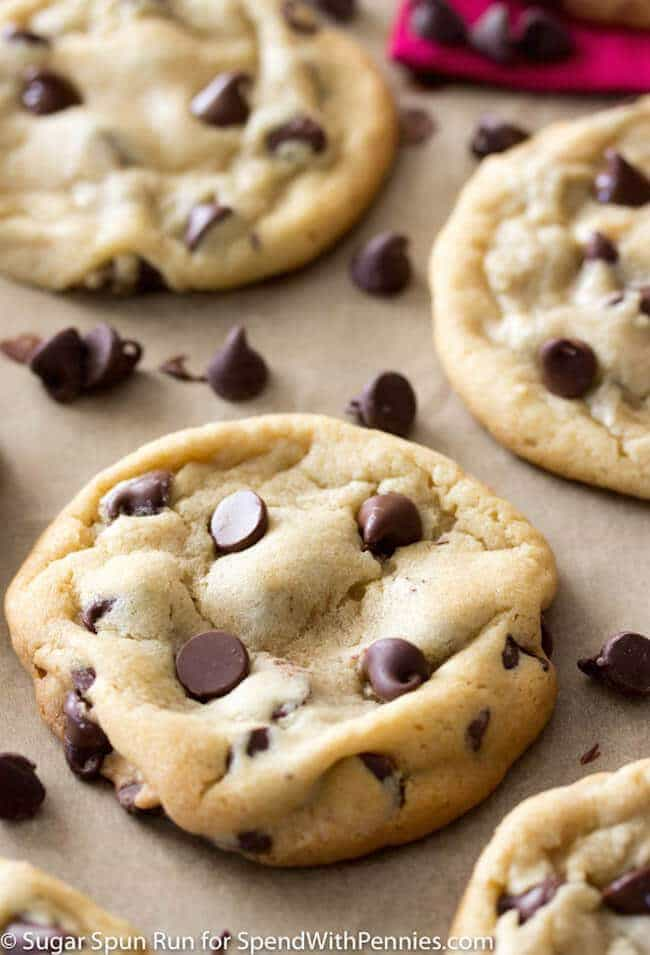 I'm pleased to introduce you to your new favorite chocolate chip cookie recipe! These chocolate chip cookies have been carefully crafted to be perfectly soft, perfectly chewy, and just all around perfectly delectable. You'll never need another cookie recipe again!
