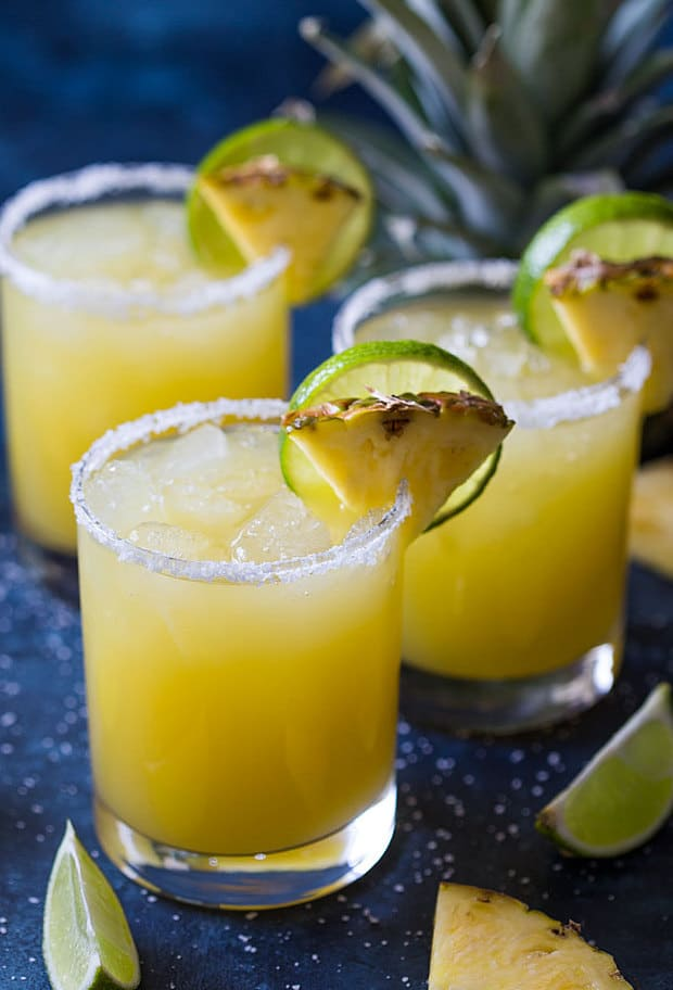 Pineapple Margarita – A sweet, tart and delicious margarita that is incredibly EASY to make!