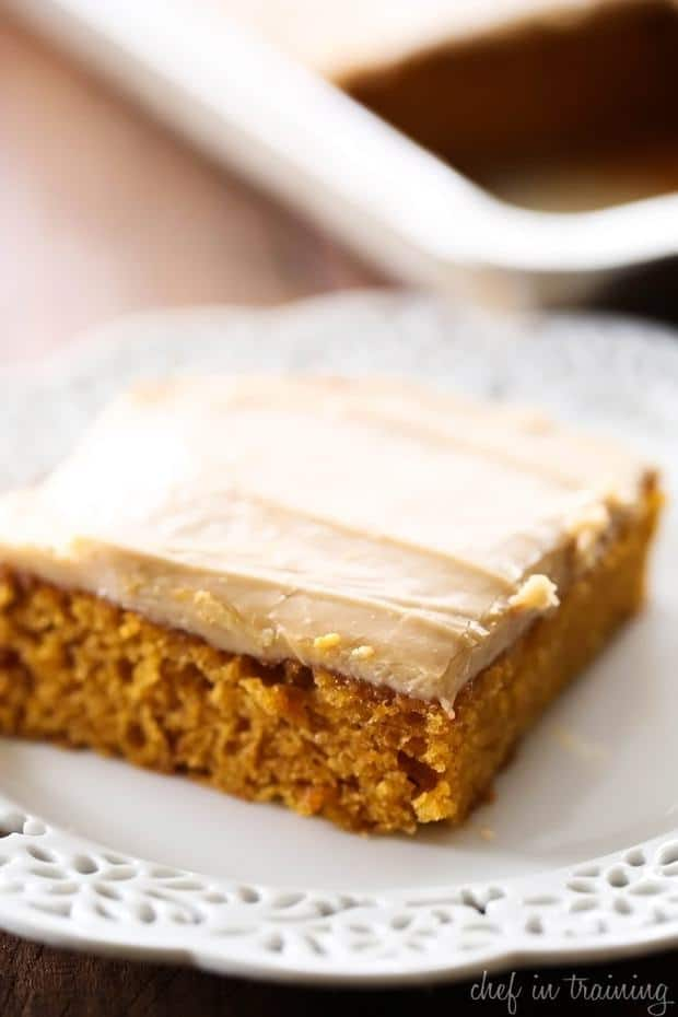 Caramel Pumpkin Sheet Cake -- Part of The Very Best Sheet Cake