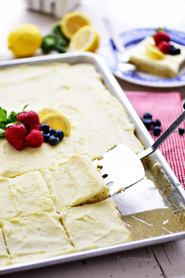 Lemon Sheet Cake -- Part of The Very Best Sheet Cake