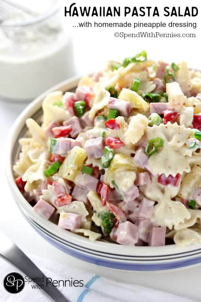 Hawaiian Pasta Salad -- part of The Best Picnic and Potluck Recipes
