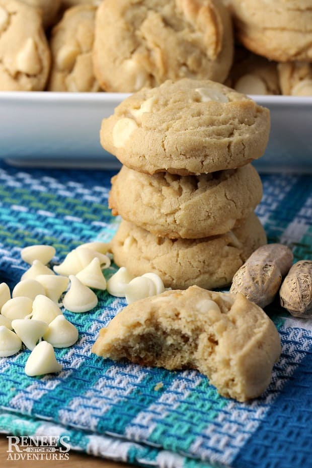 If you're looking for what to make with white chocolate chips, this recipe is for you! Bake a batch up today!
