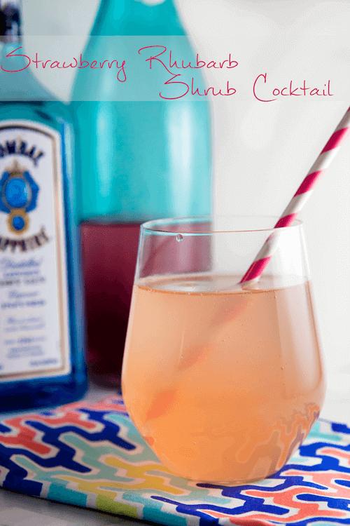 16 Strawberry Rhubarb Shrub Cocktail