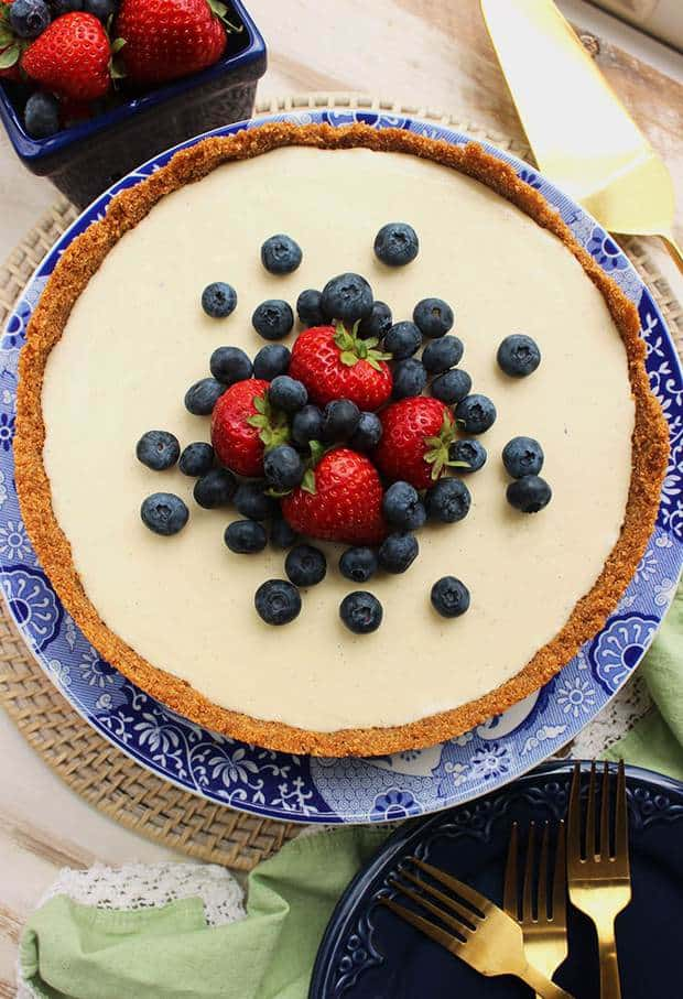 The easiest and BEST No Bake Cheesecake recipe around. Rich, creamy and sweet, this simple dessert is made completely from scratch with no added gelatin. A great option for summer but just as fabulous for every occasion all year long!