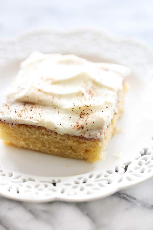 Eggnog Sheet Cake -- Part of The Very Best Sheet Cake