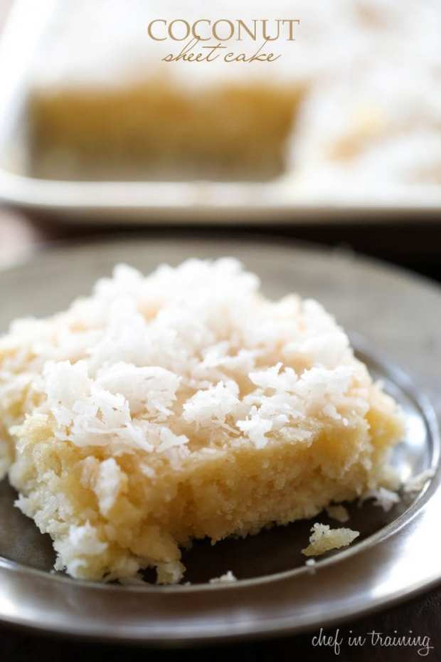 Coconut Sheet Cake -- Part of The Very Best Sheet Cake