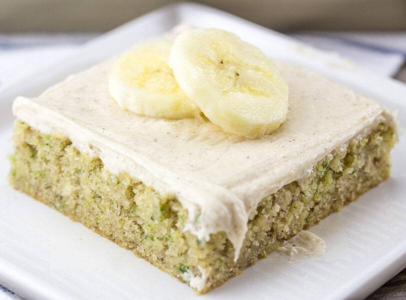 Banana Zucchini Sheet Cake -- Part of The Very Best Sheet Cake