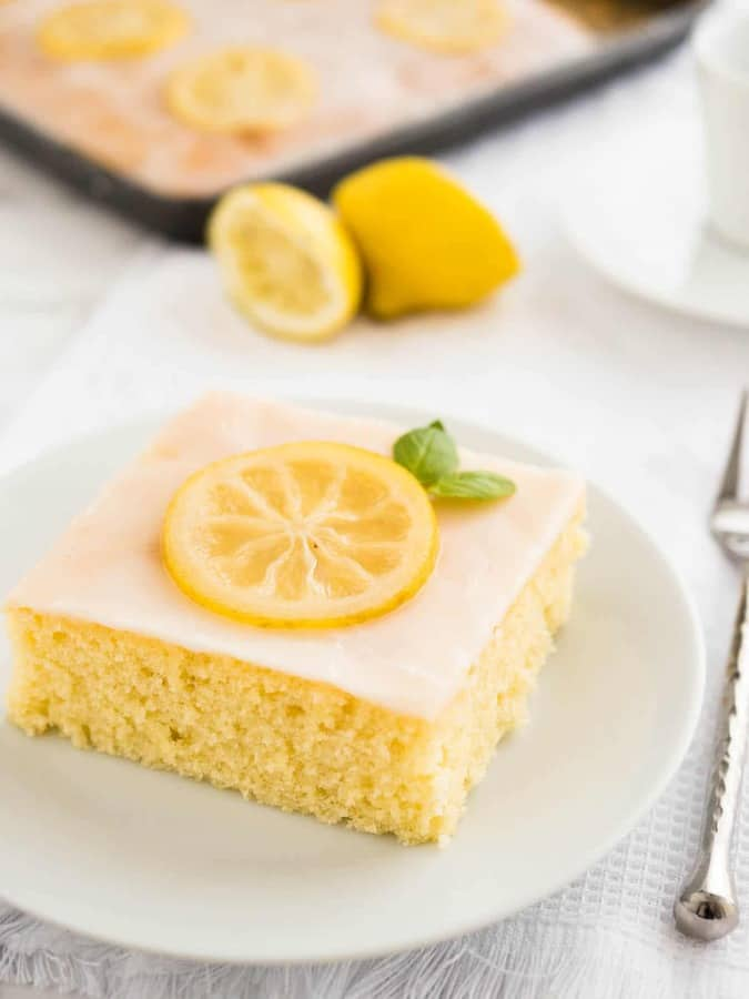 Easy Lemon Sheet Cake -- Part of The Very Best Sheet Cake