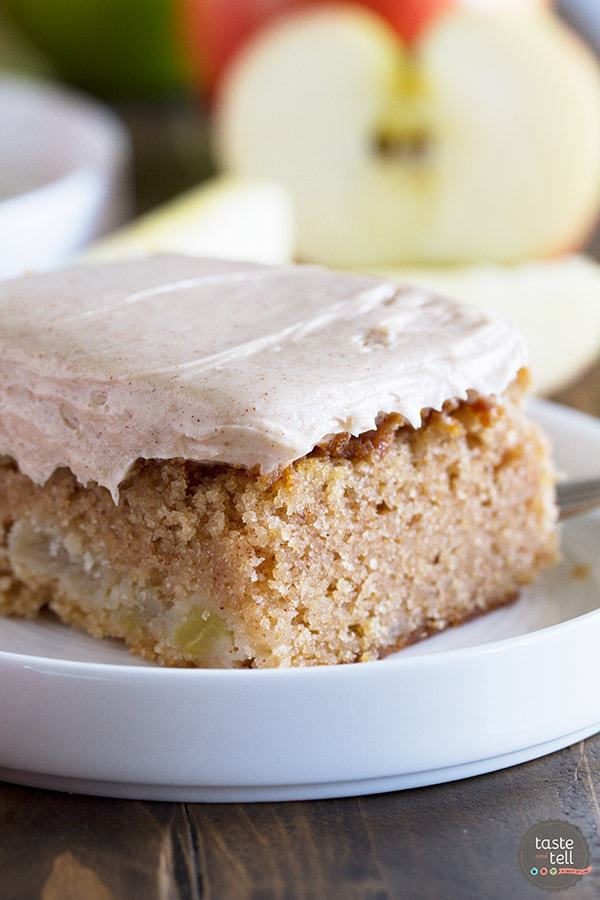 Apple Cinnamon Sheet Cake -- Part of The Very Best Sheet Cake