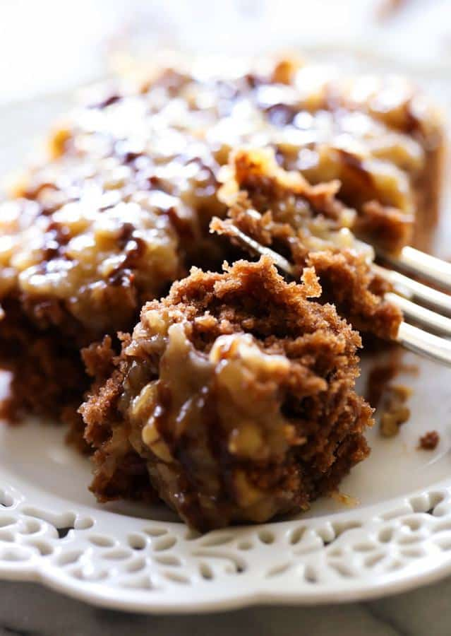 German Chocolate Sheet Cake -- Part of The Very Best Sheet Cake
