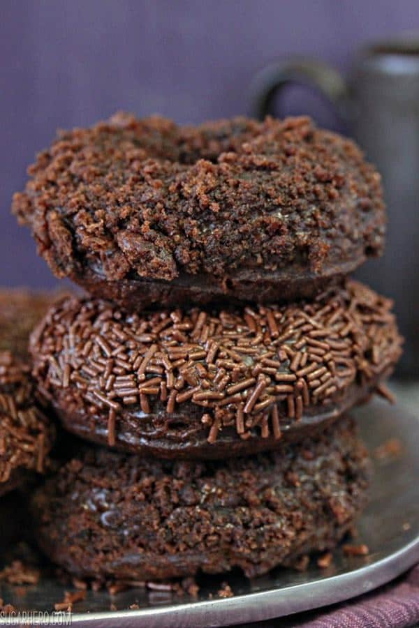 If you love chocolate, you will love these Chocolate Blackout Doughnuts!