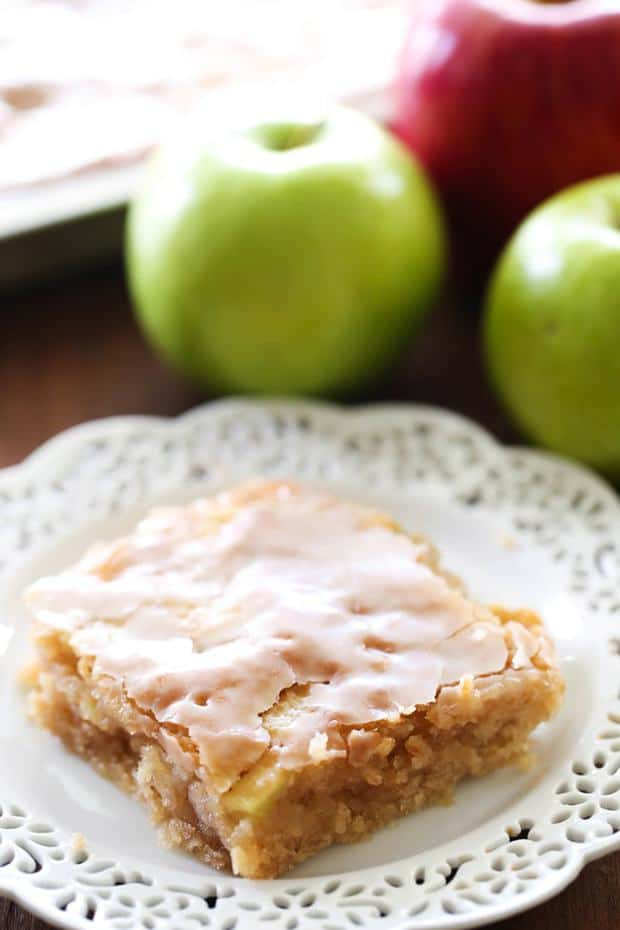 Caramel Apple Sheet Cake -- Part of The Very Best Sheet Cake