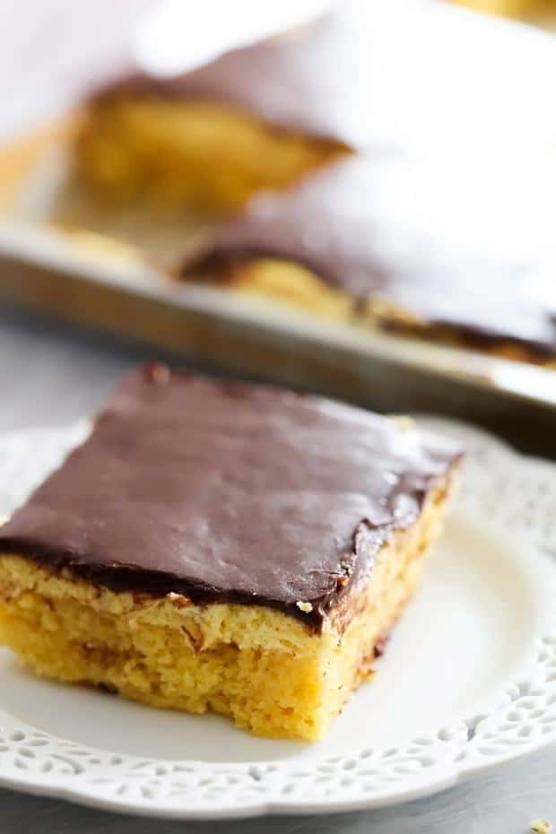 Boston Cream Pie Sheet Cake -- Part of The Very Best Sheet Cake