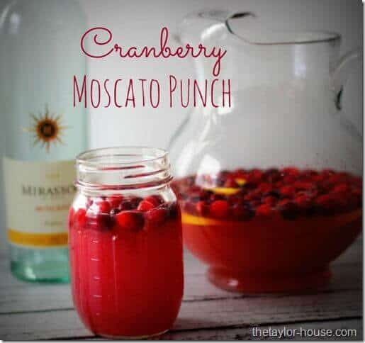 6 Cranberry Moscato Punch