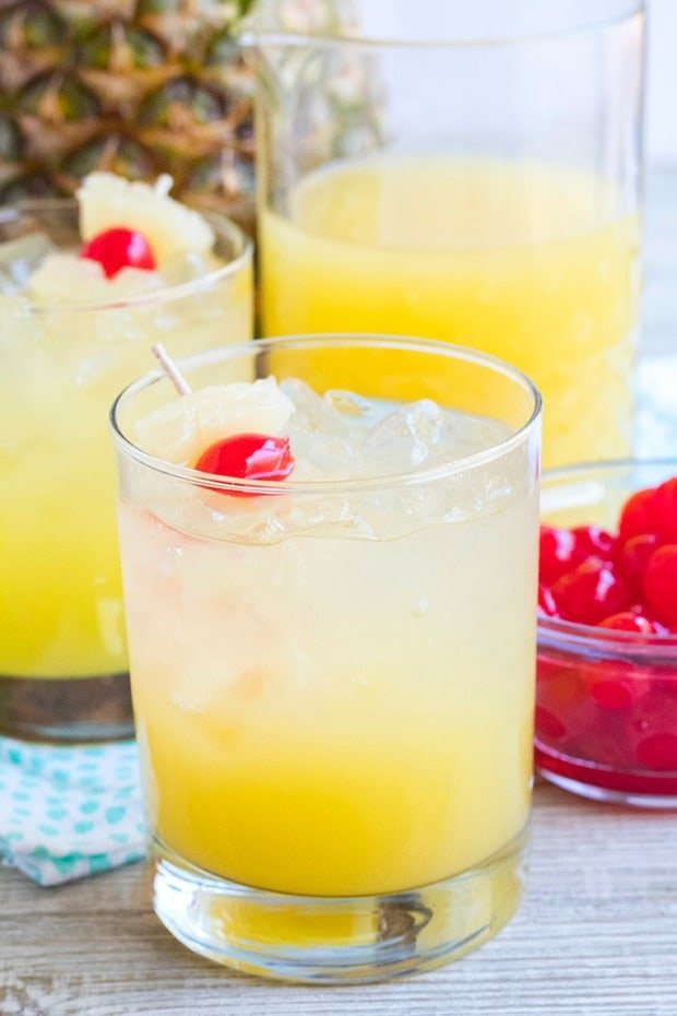 Bring the tropics to brunch with this easy Pina Colada Rum Punch! A crowd-pleasing cocktail that goes down easy and only uses 4-ingredients!