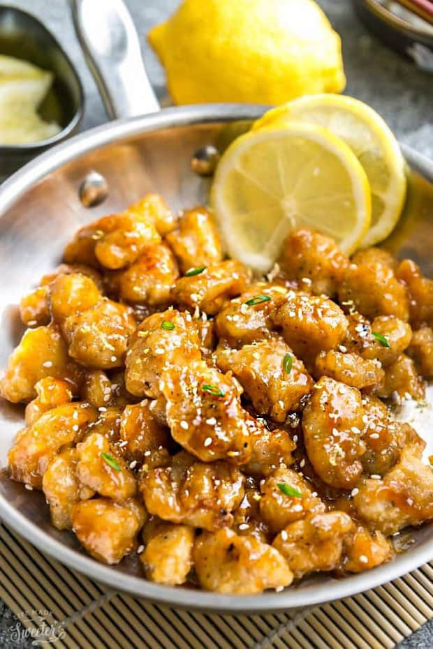 Asian Lemon Chicken – an easy homemade 30 minute version of the popular Chinese Takeout-Style Lemon Chicken. With a light and crispy coating covered in a flavorful sweet, savory and tangy lemon sauce. With gluten free & paleo options.
