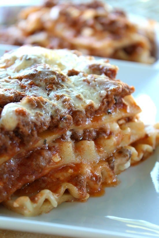 This classic lasagna is absolutely delicious and one that will be requested over and over. A perfect comfort food that satisfies those pasta cravings, those cheese cravings and it's pretty easy to prepare and the leftovers are to die for!