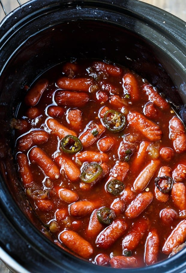 Crock Pot Little Smokies--part of QUICK EASY WAYS TO MAKE LITTLE SMOKIES