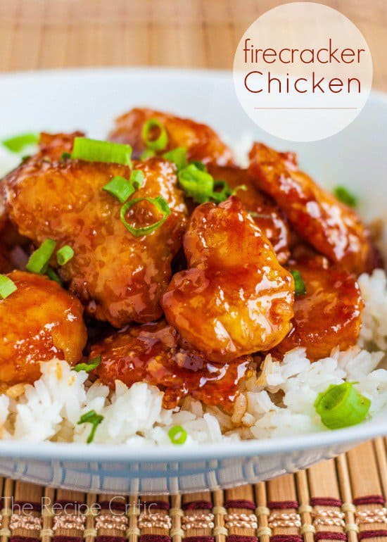 Amazing restaurant quality chicken that has just the right amount of sweet and the right amount of spice!