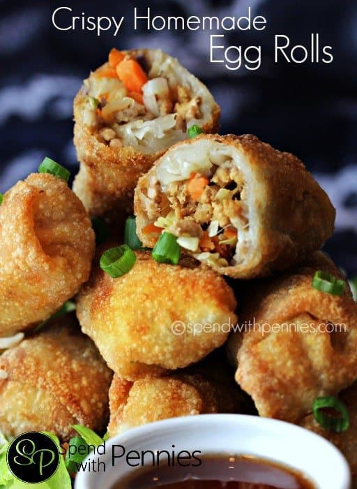 When we go for dinner, egg rolls is one of my favorite things to order!  I had NO idea they'd be so easy to make at home!