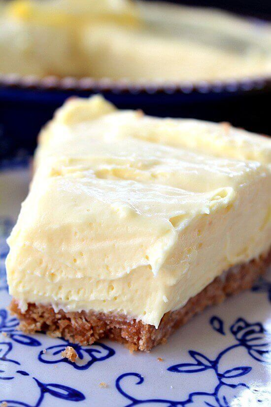 On a hot summer day this cream cheese lemonade pie is just what is needed. This pie is creamy, tart and full of lemony flavor. This is definitely a refreshing, super delicious, creamy dessert. My co-worker, Dawn, gave me some awesome lemon recipes last week and I am loving these tasty lemon desserts. Sharing recipes from my friends is a lot of fun. I love seeing and hearing about my friend's favorite recipes that they have grown up loving. I'm looking forward to more of Dawn's family's recipes.