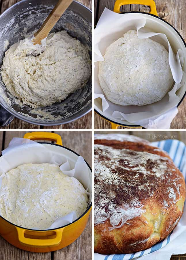 Easy No Knead Bread And Rolls
