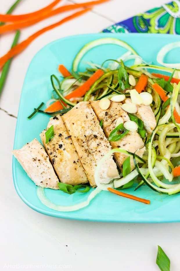 This is an easy and quick Asian - inspired dinner recipe that takes less than 30 minutes to make. It's light and satisfying, with a combination of sweet and tangy flavors!